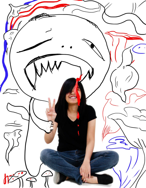 ASPIRING ARTIST. Jaymee Castillo gets her inspiration from anime.