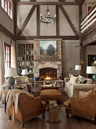 Great Home Design Ideas: Crazy Office Design Ideas: Rustic Lake House Decorating