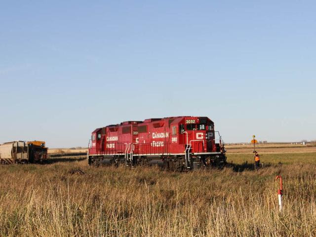 CP 3092 and 3062 in Carseland, AB
