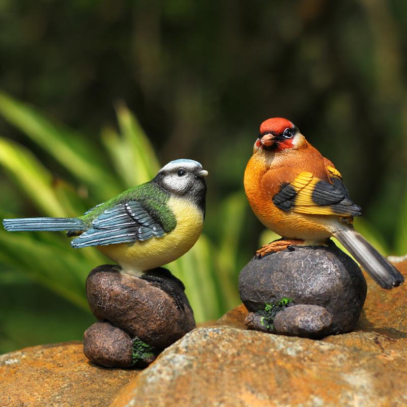 Garden-birds-ornaments-creative-home-accessories-resin ...