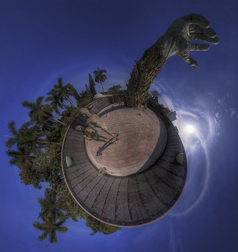 Miami Beach Holocaust Memorial - Stereographic Projection