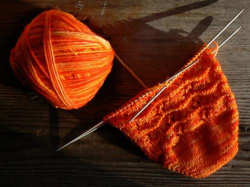 marigold sock WIP