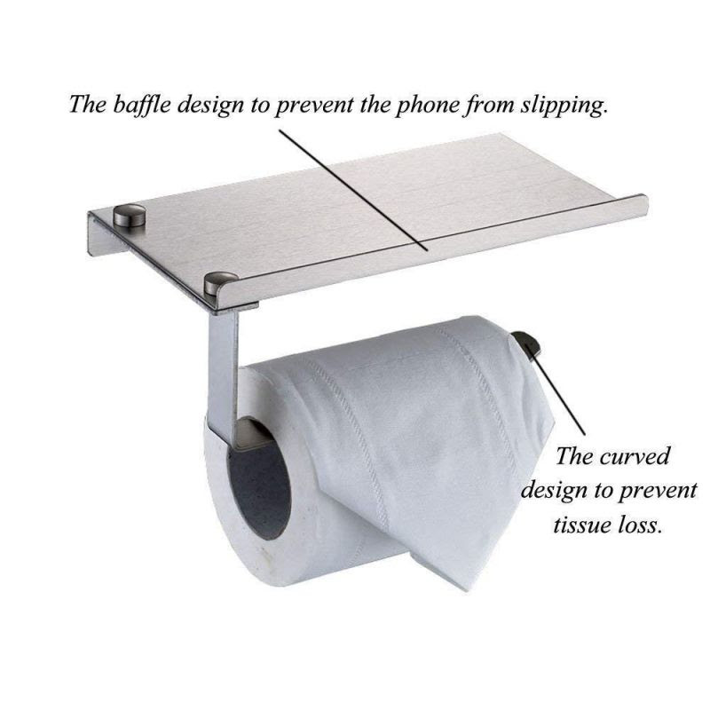 Buy Ergode Wall Mount Toilet Paper Holder With Mobile Phone Storage