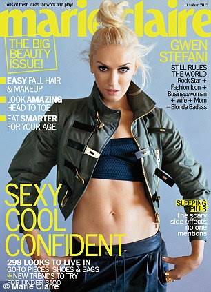 Toned: Gwen looks spectacular on the October cover of Marie Claire