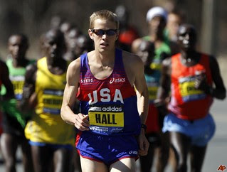 Ryan Hall en el Maraton de Boston 2011