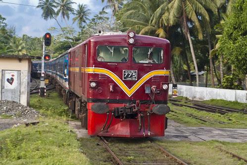 Class M5C Loco No.775 hauling 'Ruhunu Kumari' Express