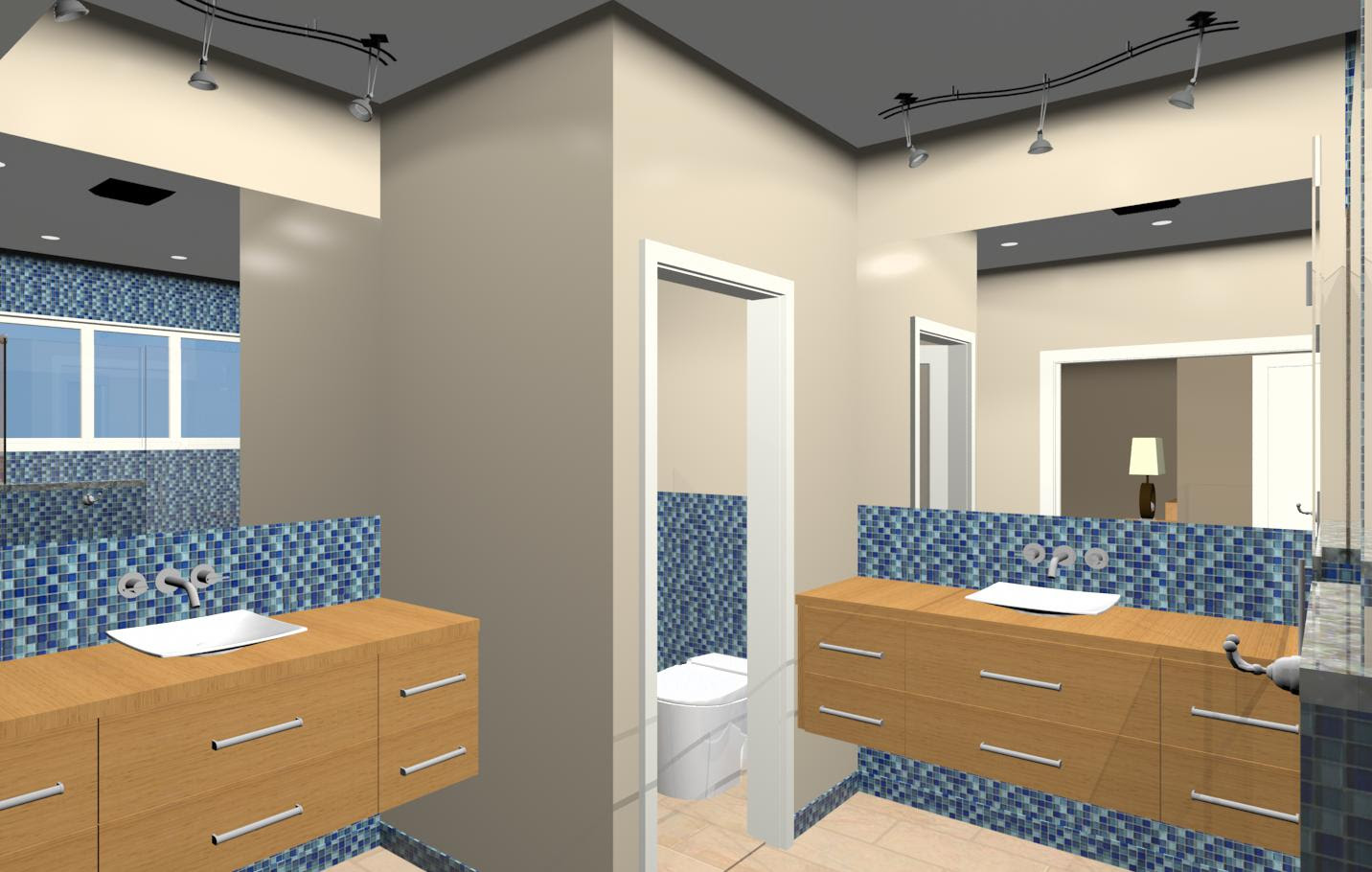 Master Bathroom Design Option Water Closet Closet