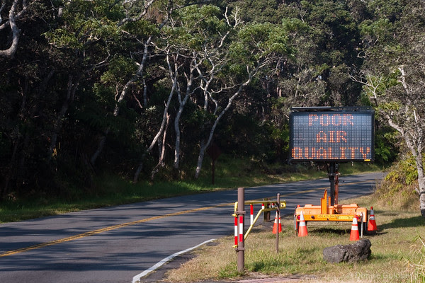 poor air quality warning, hawaii volcanoes national park