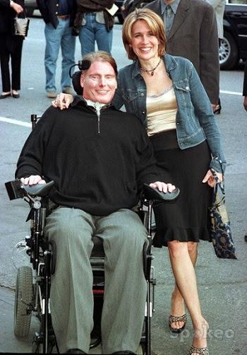 Christopher Reeve e sua esposa Dana Reeve