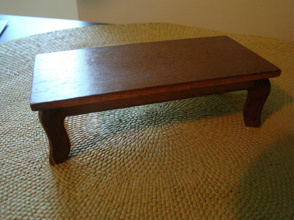 Vintage Wooden Coffee Table Living Room Dollhouse ...