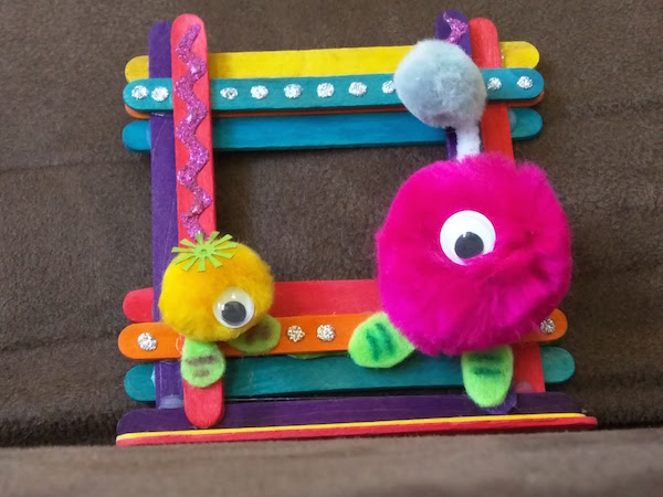A To Z Challenge P Is For Popsicle Stick Picture Frame Craft Ink