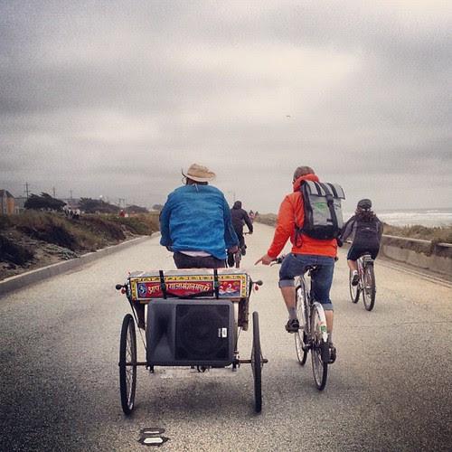 Deep & Ian at #sundaystreets #outerlands #sierra #rickshaw