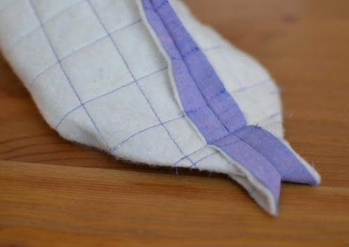 padded bag - forming the bottom