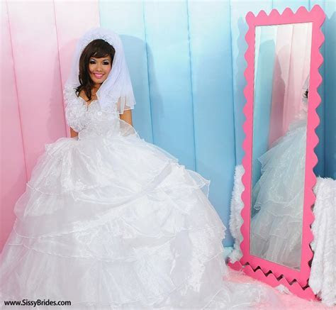 Our version of a sissy wedding dress   Sissy Dresses
