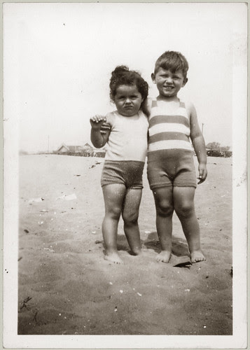 Two kids on the beach