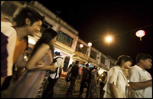Walking on Thalang Road