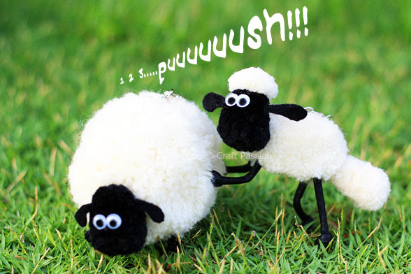 Shaun The Sheep Pom Pom