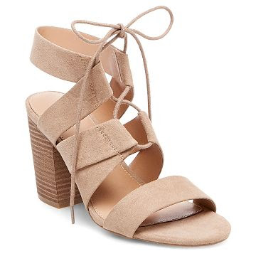 Women's Harriet Lace Up Heeled Quarter Strap Sandals - Merona™