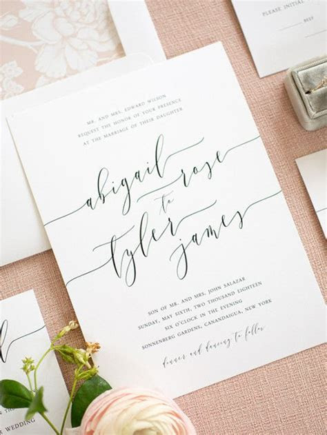 Clean, Simple, Elegant Wedding Invitations from Shine