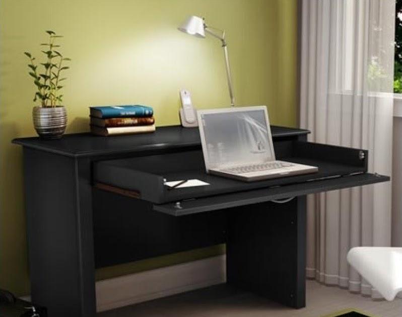 South Shore Work Id Secretary Desk Pure Black Modern