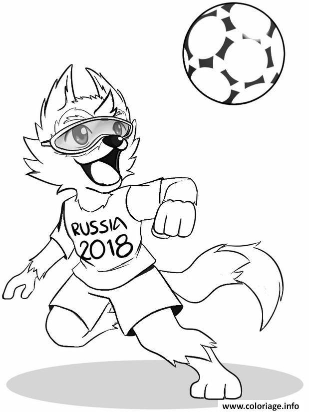 Coloriage Fifa World Cup 2018 Russie Coupe Du Monde Jecoloriecom