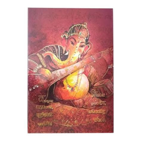 Book Style Cardboard, Paper Lord Ganesha Wedding