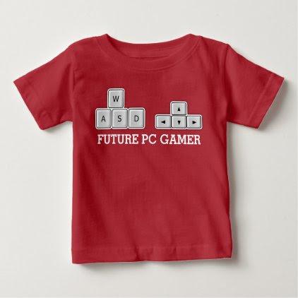 Future PC Gamer Baby WASD Keyboard Baby T-Shirt