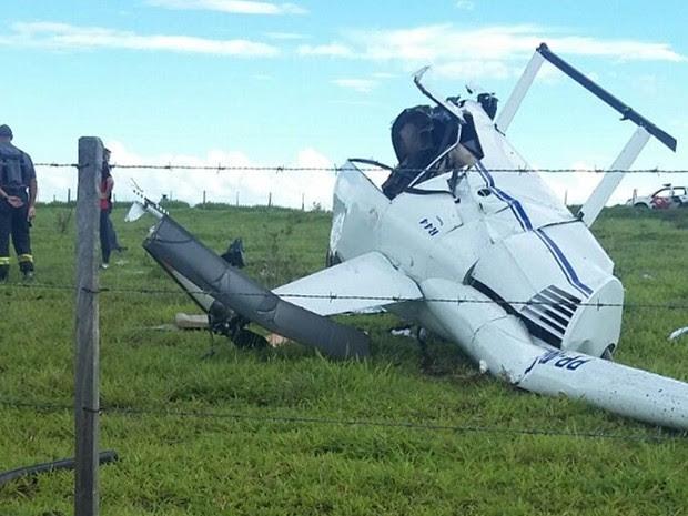 Helicóptero caiu em região rural perto do rio Tietê (Foto: Arquivo Pessoal)