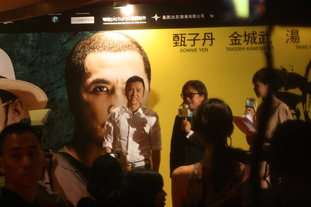 Donnie Yen with director Peter Chan