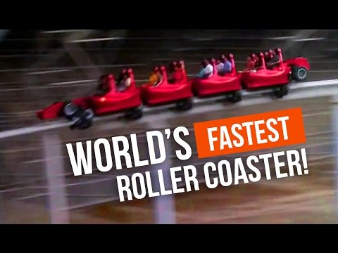 240km/h in 4.9 seconds! the world's fastest rollercoaster. Would you dare?