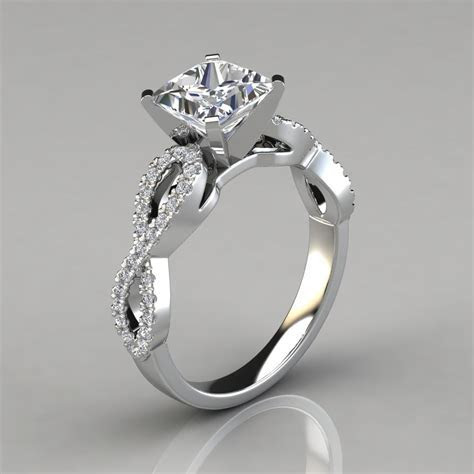 Infinity Design Princess Cut Engagement Ring   Forever