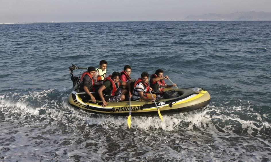 Inmigrantes en una lancha