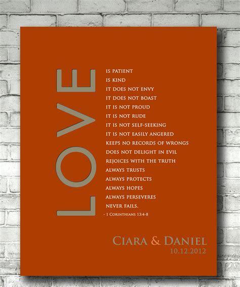 Personalized Wedding Anniversary Gift Print, 1 Corinthians