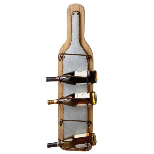 Doerr Furniture Wooden Wall Mounted Wine Rack