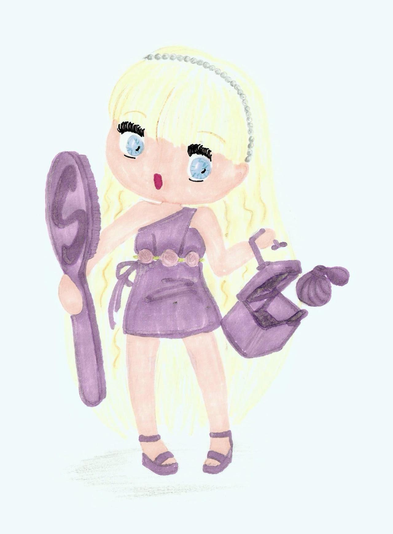 ilustração Susi lilás