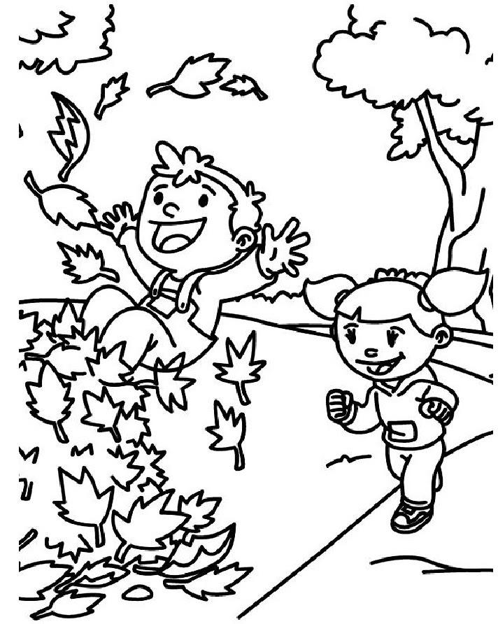Sonbahar Mevsimi Boyama Sayfası 1 Forumunuzcom