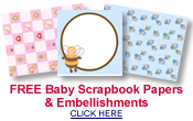 free baby scrapbook papers and embellishments