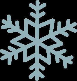 冬雪の結晶のイラスト 無料イラストフリー素材