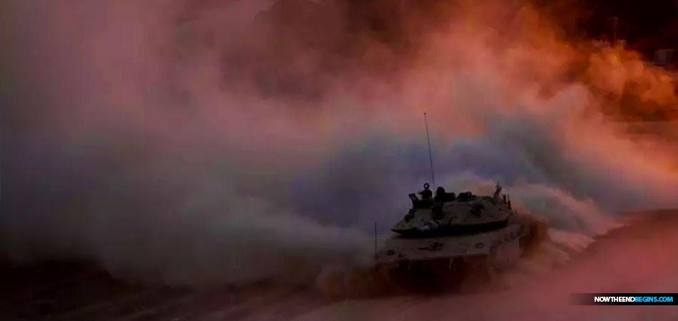israel-idf-airstrikes-tank-gaza-strip-hamas-february-2018