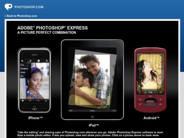 Photoshop Express para el iPad, iPhone y Android
