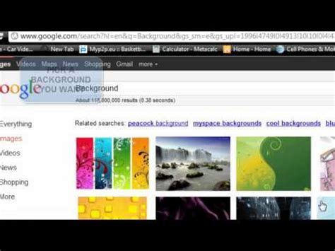 Set a Background Wallpaper in Google Chrome Without