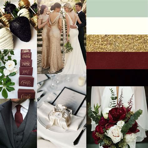 Black, Gold, Ivory, Pale Green and Marsala  Beautiful