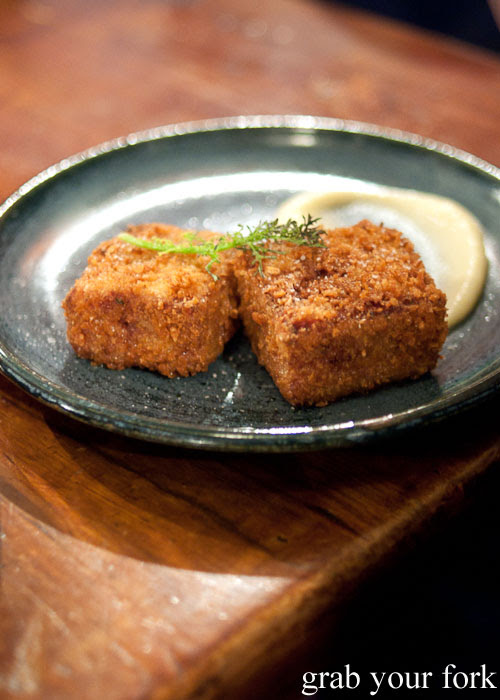 Ham hock croquettes with apple