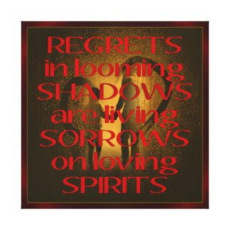 REGRETS STRETCHED CANVAS PRINT