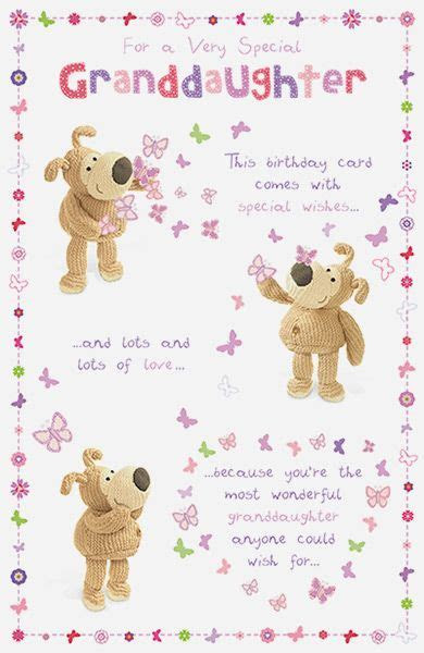 Boofle Special Granddaughter Birthday Card