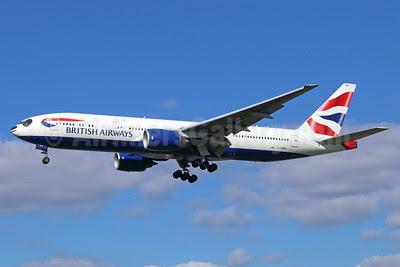 British Airways Boeing 777-236 ER G-YMMH (msn 30309) (Panda Jet) LHR (Michael B. Ing). Image: 913670.