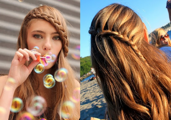 Love the lace braid..i do the one on the left on myself, but need to try the one on the right..it's cute!