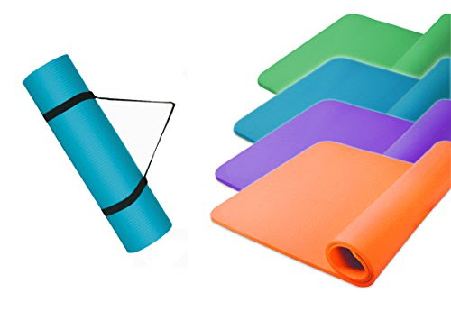 Yoga Mat-Fitness Mat Exercise Mat Aerobic Pilates Yoga Mat, blue