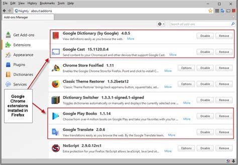 How to install Google Chrome extensions in Firefox