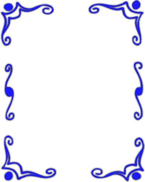 Cool Border Designs Blue   ClipArt Best